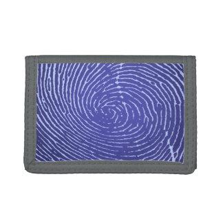 Fingerprint Graphic Trifold Wallets