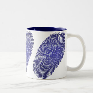Fingerprint Graphic Two-Tone Coffee Mug