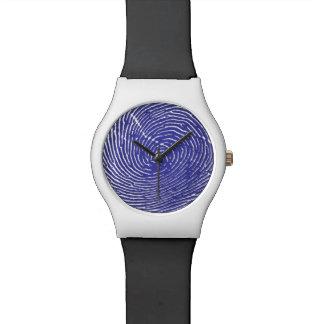 Fingerprint Graphic Watch