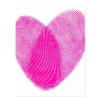 Fingerprint Heart Postcard