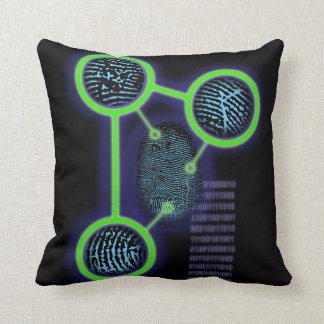 Fingerprint Identification Throw Pillow