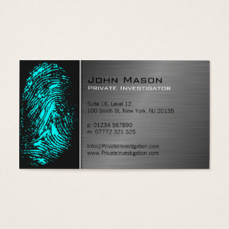 Fingerprint Private Investigator Business Card