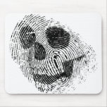 Fingerprint skull mouse mat