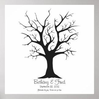 """Fingerprint Tree C - 24""""x24"""" Poster"""