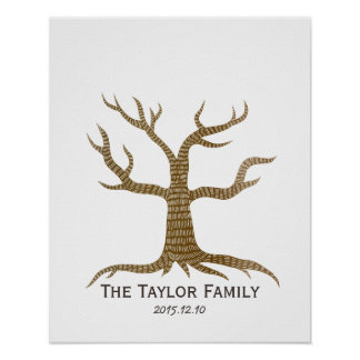 Fingerprint Tree Family Reunion Guestbook