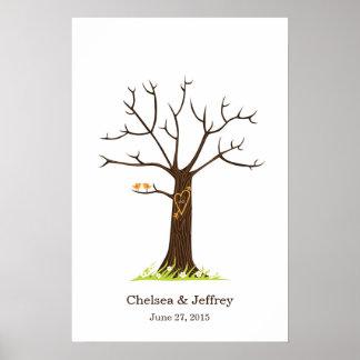 Fingerprint Tree (Simple) Poster