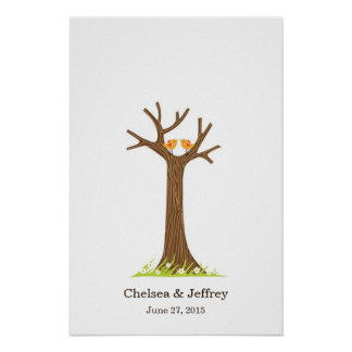 Fingerprint Tree (Sweet) Poster
