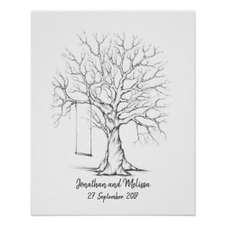 Fingerprint Tree, Thumbprint Tree, Guest Book
