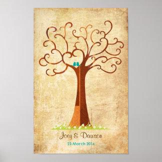 Fingerprint Tree Wedding - Heartastic Vintage Print