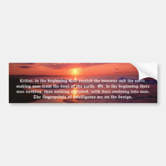 """FINGERPRINTS"" BUMPER STICKER"