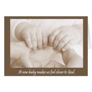 Fingerprints of God Baby Card