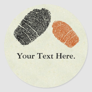 Fingerprints Stickers or Name Tags
