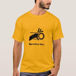Fingers in sprocket, Sprocket bite. T-Shirt