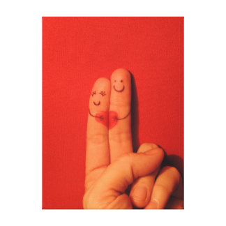 Fingers love romance artistic illustration canvas print