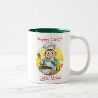 fingers sticky? Two-Tone coffee mug