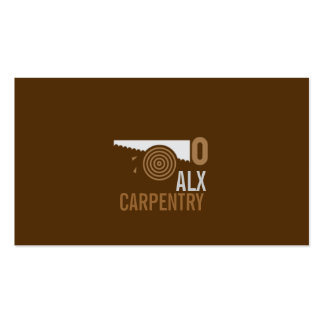 Finish Carpentry, Millwork Construction Wood Business Card Template