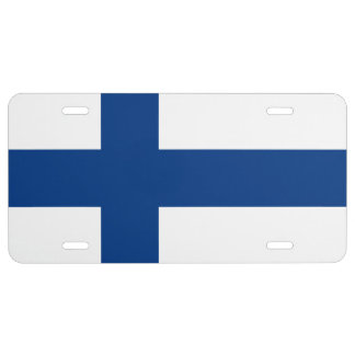 FINISH FLAG License Plate