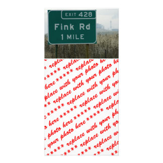 Fink rd Crows Landing CA Personalized Photo Card