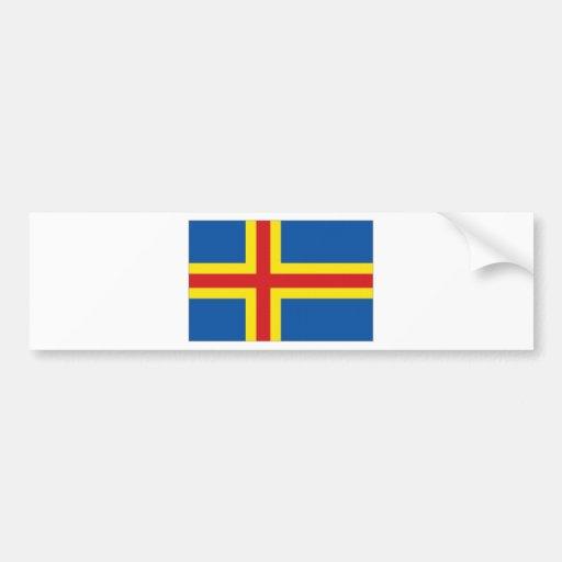 Finland Aringland Islands Flag Bumper Sticker