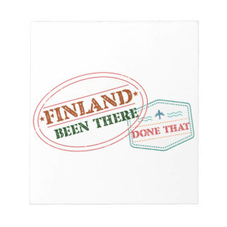 Finland Been There Done That Notepad