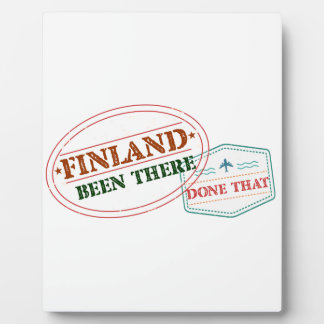 Finland Been There Done That Plaque