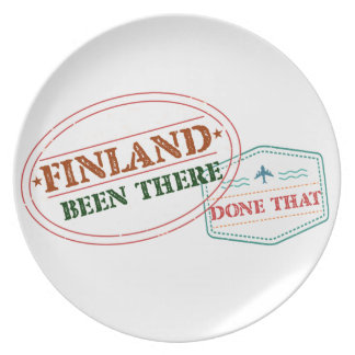 Finland Been There Done That Plate