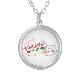 Finland Been There Done That Silver Plated Necklace