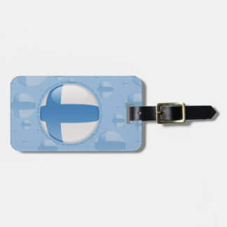 Finland Bubble Flag Luggage Tag