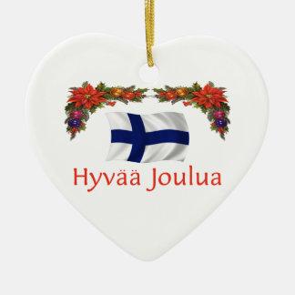 Finland Christmas Ceramic Ornament