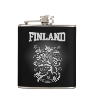 Finland Coat of Arms Hip Flask
