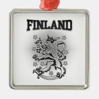 Finland Coat of Arms Metal Ornament