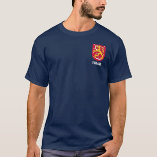 FInland Coat of Arms Pocket Design T-Shirt