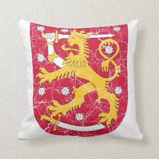 Finland Coat Of Arms Throw Pillow