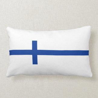 finland country flag long symbol lumbar pillow