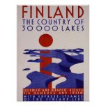 Finland . Country of Lakes , Poster