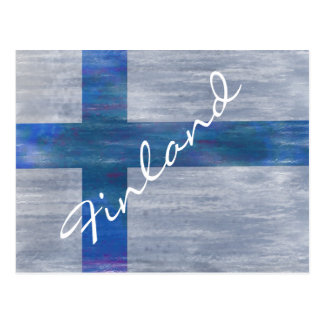 Finland distressed Finnish flag Postcard