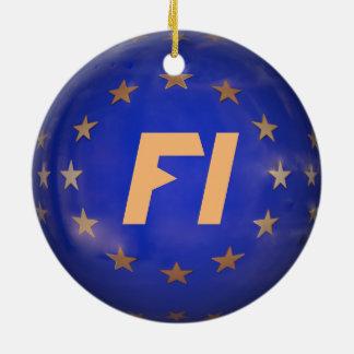 Finland E.U. Flag Christmas Ornament