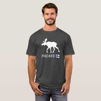 Finland Elk and flag T-Shirt
