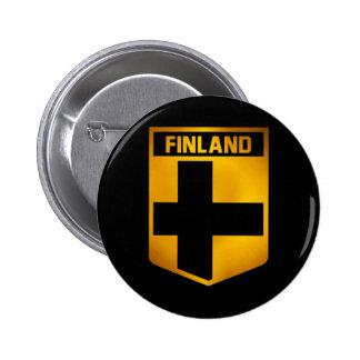 Finland Emblem 2 Inch Round Button