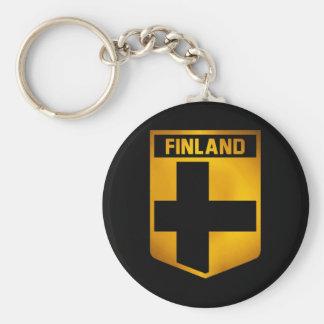 Finland Emblem Basic Round Button Keychain