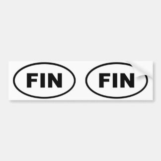 Finland FIN European oval Bumper Sticker