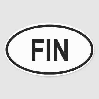 "Finland ""FIN"" Oval Sticker"