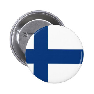 Finland flag 2 inch round button
