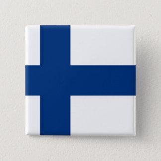 Finland Flag 2 Inch Square Button