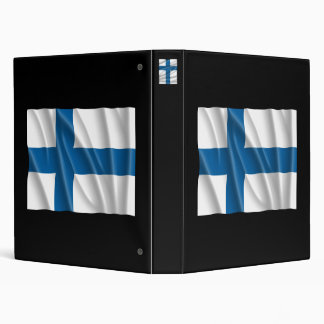 FINLAND FLAG 3 RING BINDER