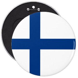 Finland Flag 6 Inch Round Button