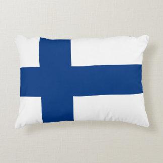 Finland Flag Accent Pillow