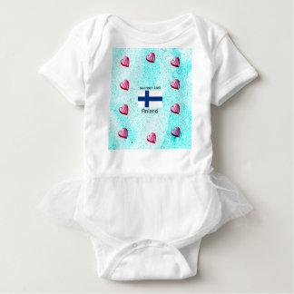 Finland Flag And Finnish Language Design Baby Bodysuit
