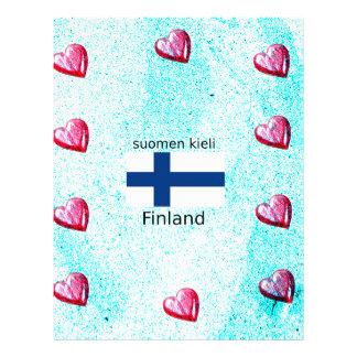 Finland Flag And Finnish Language Design Letterhead