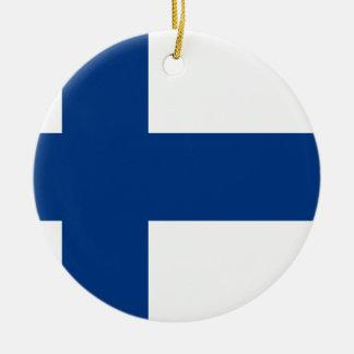 Finland Flag Ceramic Ornament